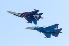 Free Aerobatic Display Team Russian Knights Stock Photography - 97674452
