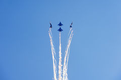 Free Aerobatic Display Team Russian Knights Royalty Free Stock Images - 97674469