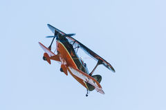Aerobatic Doppeldecker Pitts S-2A Stockbilder