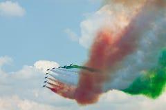 Aerobatic drużynowy występ Obrazy Stock