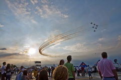 Aerobatic Exercise, Airshow 2015 BIAS Bucharest Royalty Free Stock Images