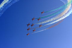 Aerobatic flight royalty free stock photography