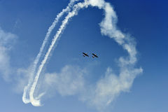 Aerobatic flight Stock Image