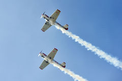 Aerobatic flight Royalty Free Stock Photos