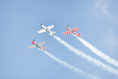 Aerobatic Flugzeuge Lizenzfreie Stockfotos