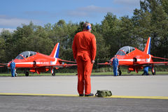 Aerobatic Flugzeuge RAF Lizenzfreie Stockfotos