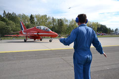 Aerobatic Flugzeuge RAF Stockbild