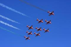 aerobatic flyg Arkivbilder