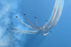 Aerobatic flygplan Fotografering för Bildbyråer
