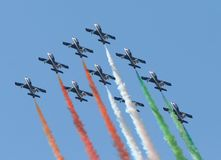 Aerobatic formation stock photos