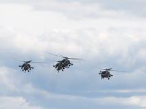 Aerobatic Golden Eagles Team des Hubschraubers Lizenzfreie Stockbilder