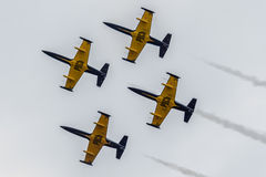 Aerobatic group Русь Stock Photography