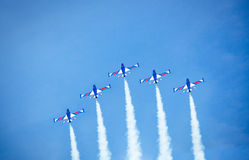 Aerobatic group formation Stock Images
