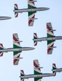 Aerobatic Gruppe Frecce Tricolori Stockfotografie