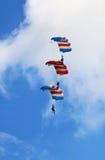 Aerobatic Im freien Fall springen Stockbild