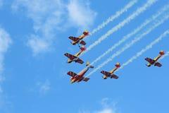 Aerobatic lag Royaltyfri Foto