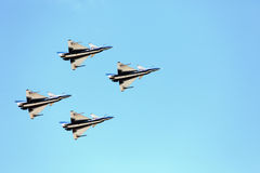 Aerobatic lagpiloter för F16 Gripen och Augusti 1st Royaltyfri Foto