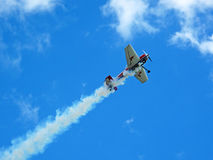 Aerobatic plane Royalty Free Stock Photo