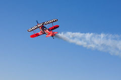 Aerobatic plane at dakar 2012 Stock Images
