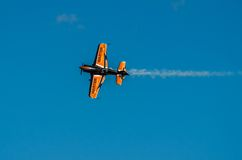 Aerobatic plane display during Air Show 2013 Royalty Free Stock Image