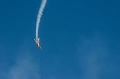 Aerobatic plane display during airshow Royalty Free Stock Photos