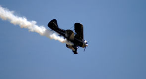 Aerobatic Plane I. An aerobatic plane descending into the frame Stock Photos