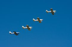 Aerobatic planes display during Air Show 2013 Royalty Free Stock Photo