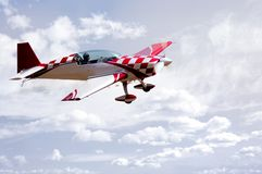 aerobatic reklamblad arkivbilder