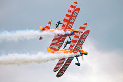 Aerobatic stunt show Royalty Free Stock Photo