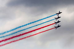 Aerobatic team in action Royalty Free Stock Image
