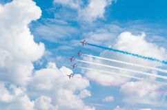 Aerobatic team in action Stock Photo