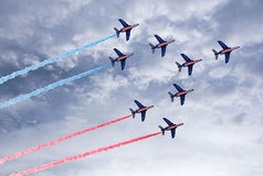 Aerobatic team in action Royalty Free Stock Images