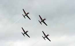 Aerobatic team Stock Photography