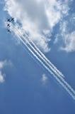 Aerobatic Team am airshow Lizenzfreie Stockfotos