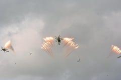 Aerobatic Team Berkut Lizenzfreie Stockbilder