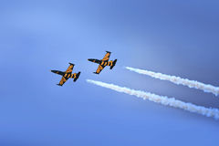 Aerobatic Team in der Aktion Stockbilder