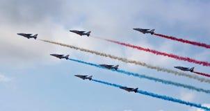 Aerobatic Team in der Aktion Lizenzfreie Stockfotos