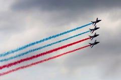 Aerobatic Team in der Aktion Lizenzfreies Stockbild