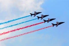 Aerobatic Team in der Aktion Lizenzfreie Stockbilder