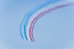 Aerobatic Team der französischen Luftwaffe Stockfotografie