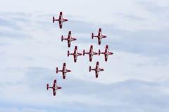 Aerobatic Team der kanadischen Snowbirds Stockbild