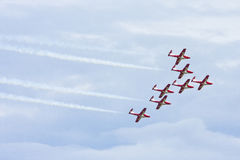 Aerobatic Team der kanadischen Snowbirds Stockfotos