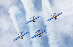 Aerobatic Team Flying Bulls Royaltyfri Bild