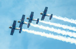 Aerobatic Team Flying Bulls Stock Photo