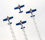 Aerobatic Team Flying Bulls royalty free stock images
