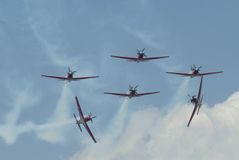 AEROBATIC TEAM INDONESIER-JUPITERS Stockbilder