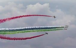 Aerobatic team making loopings in the air Stock Photo