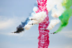 Aerobatic Team MB339 Airshow Stockbild