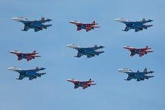 Aerobatic team Stock Photo