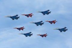 Aerobatic team Royalty Free Stock Images